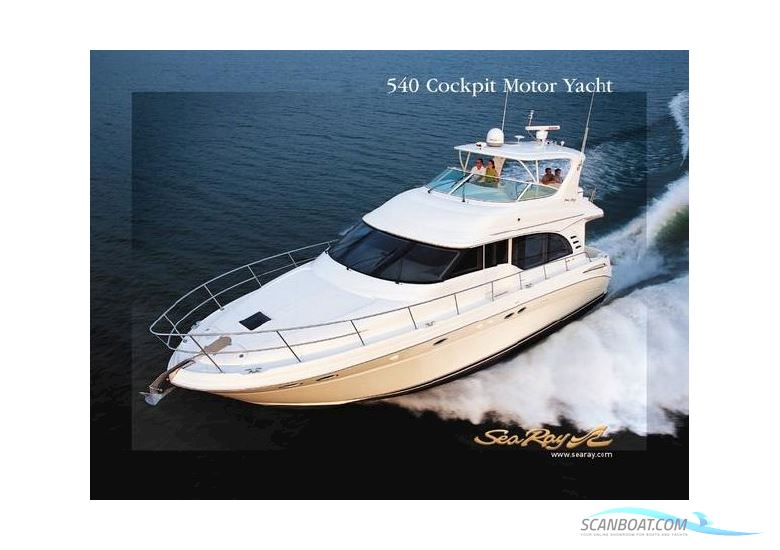 Motor boat sea ray 540 cockpit 2001 eur 196 000 boats for Sea ray motor yacht for sale