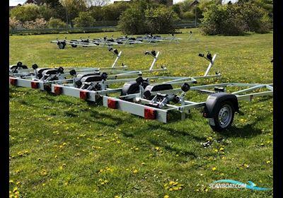 """Variant 750 kg Båd Trailer 13 """" Hjul (Incl Næsehjul og Spændebeslag)"""