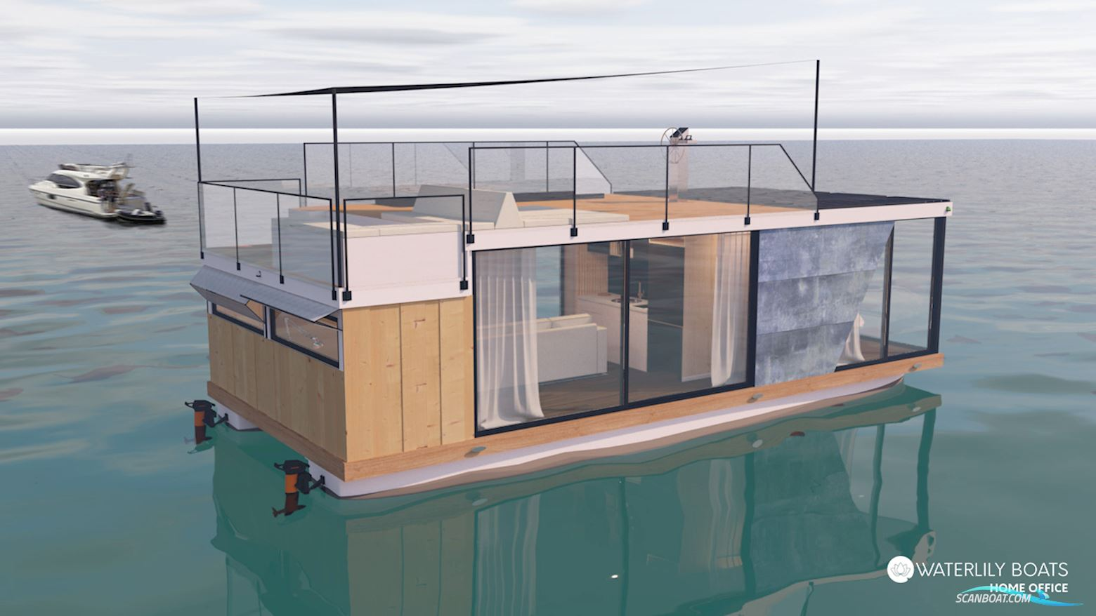 Waterlily Home Office Houseboat